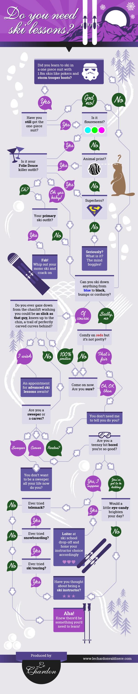 ski lessons infographic