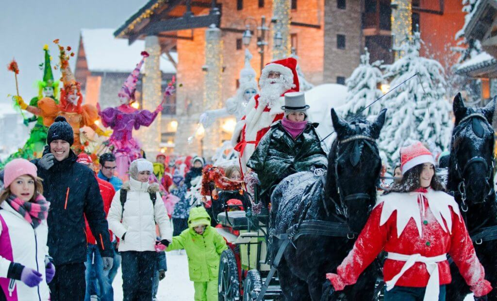Christmas season in Val d'Isere
