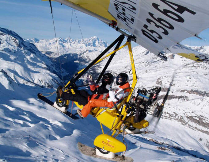 paragliding in Espace Killy